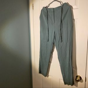 Frank and Oak sea green trousers